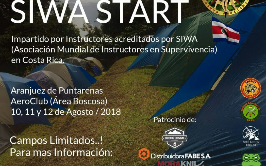 Curso de Supervivencia SIWA START en Costa Rica