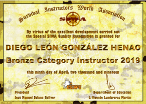 BRONZE CATEGORY SIWA INSTRUCTOR – DIEGO LEON GONZALEZ