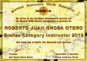 BRONZE CATEGORY SIWA INSTRUCTOR – ROBERTO JUAN OROSA OTERO