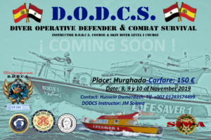Next course D.O.D.C.S. in HURGHADA (EGYPT) Instructor Course & Skin Diver Level I.   SIWA Certified